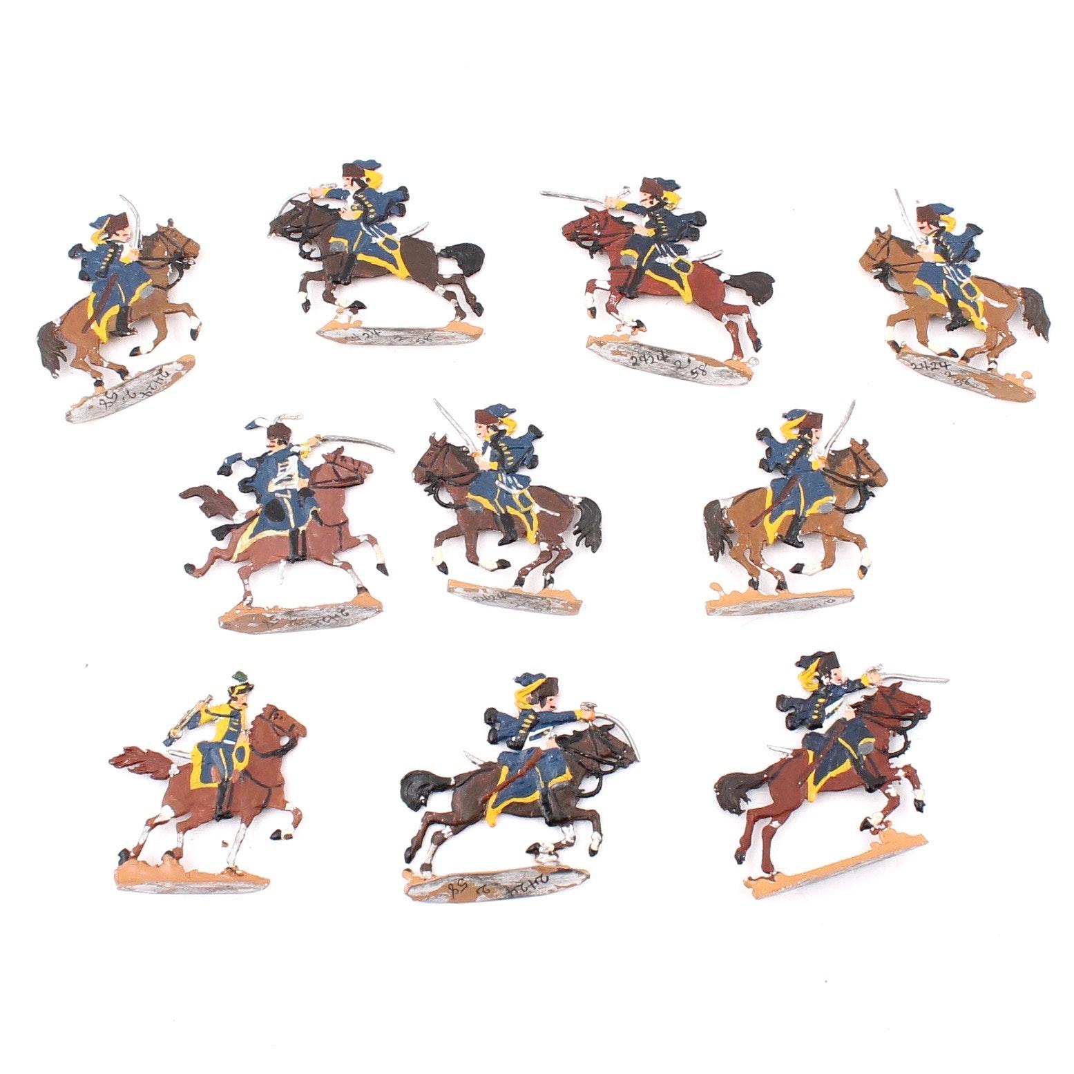 Vintage West German Hand-Painted Lead Cavalry Figures