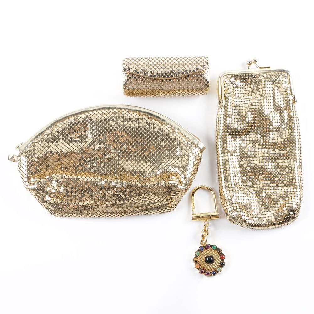 Whiting & Davis Gold Tone Metal Mesh Accessories