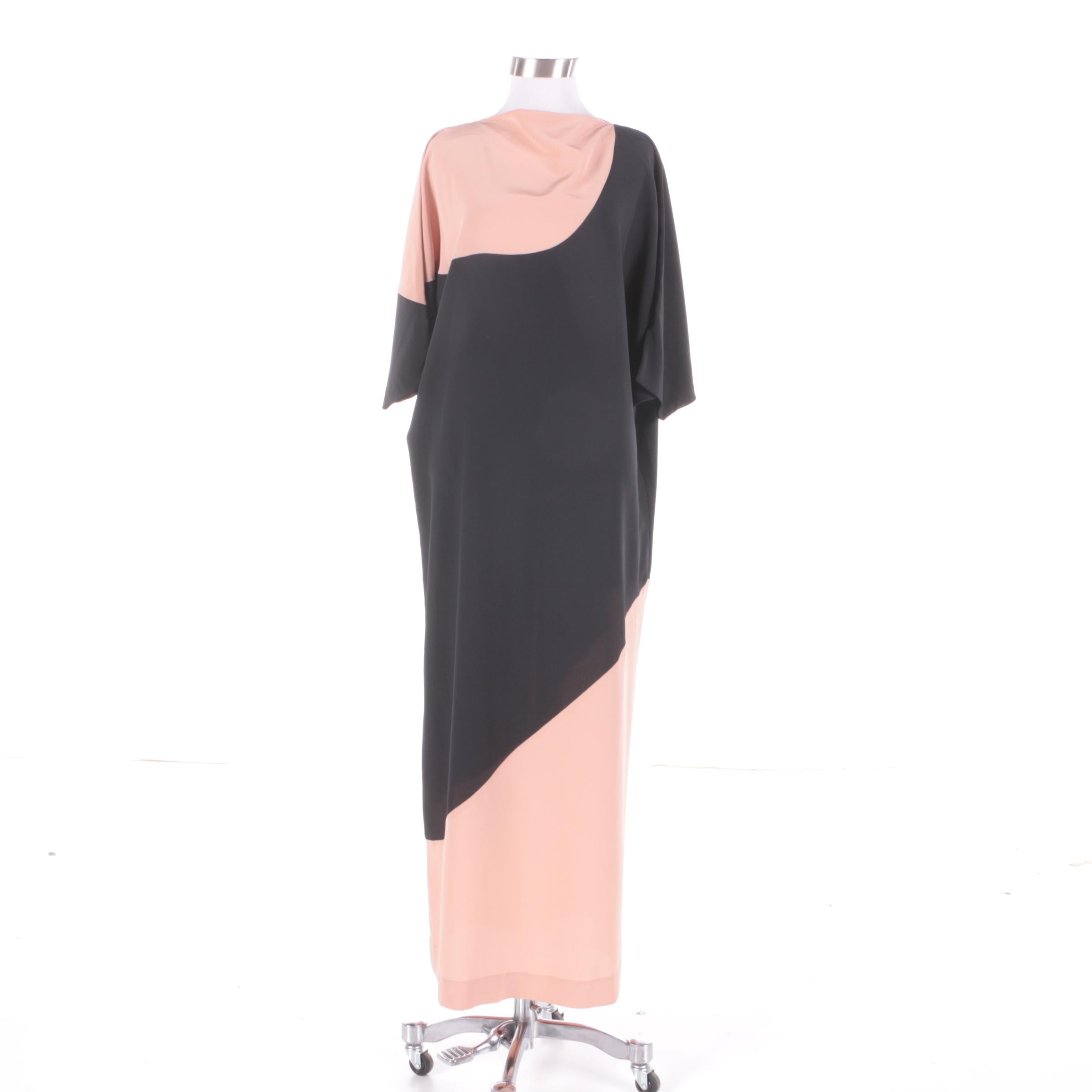 Vintage Lucie Ann of Beverly Hills Minimalist Maxi Dress or Lounge Dress