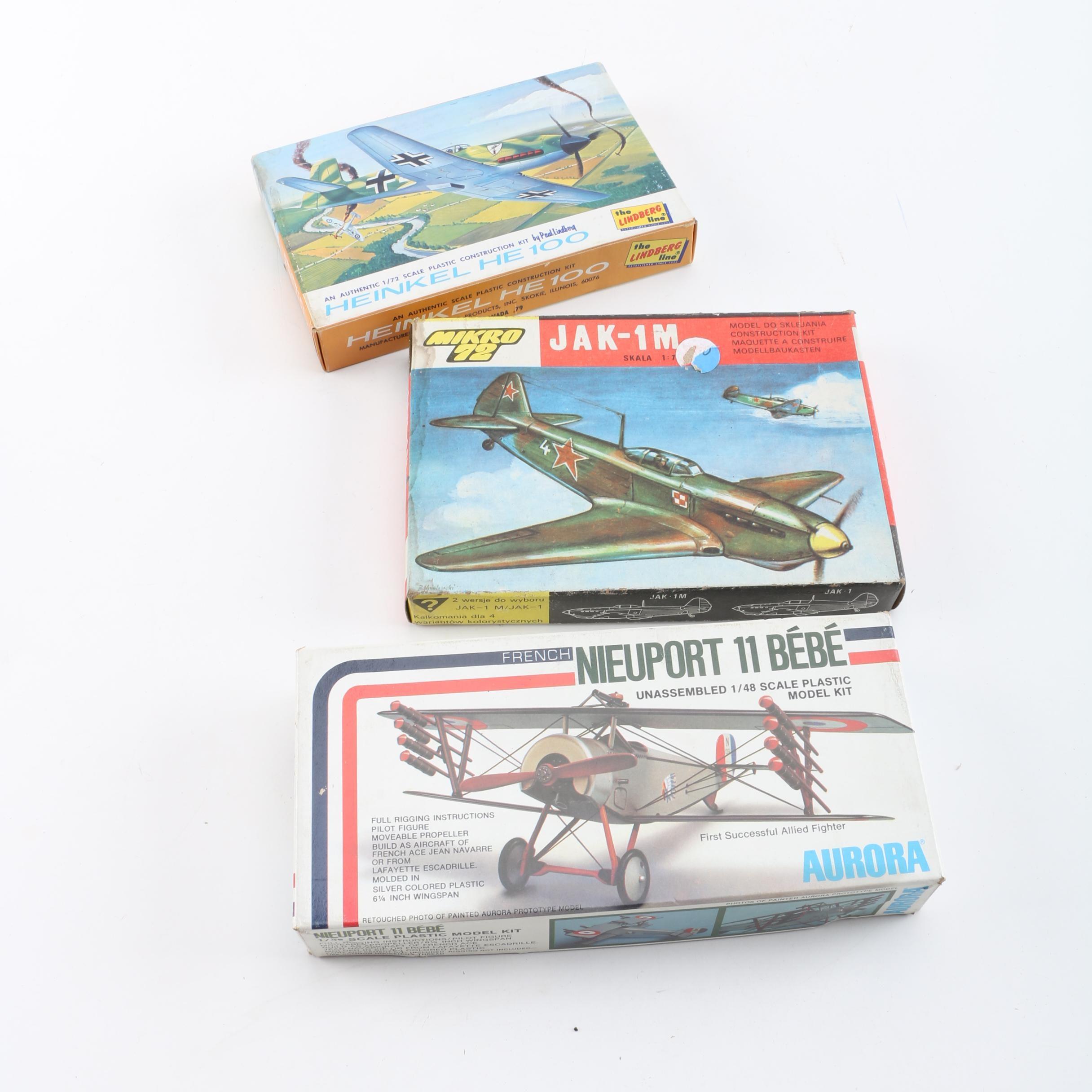 Military Aircraft Model Kits Including Lindberg