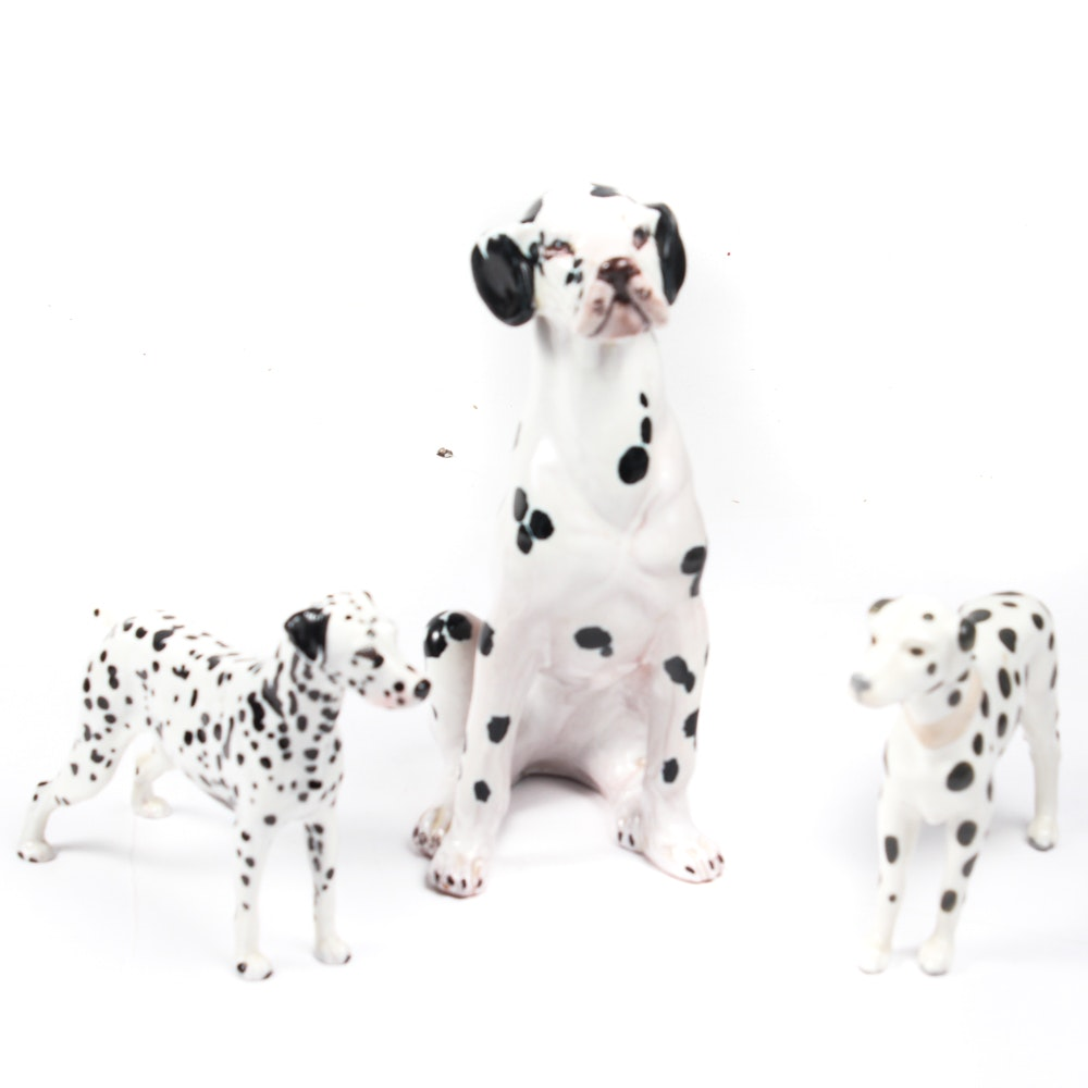 Vintage Lladro and More Dalmatian Figurines