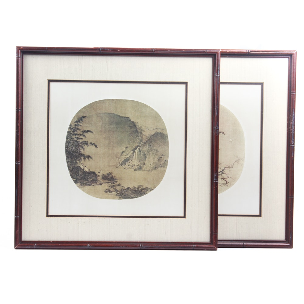 Offset Lithographs After Antique Chinese Paintings