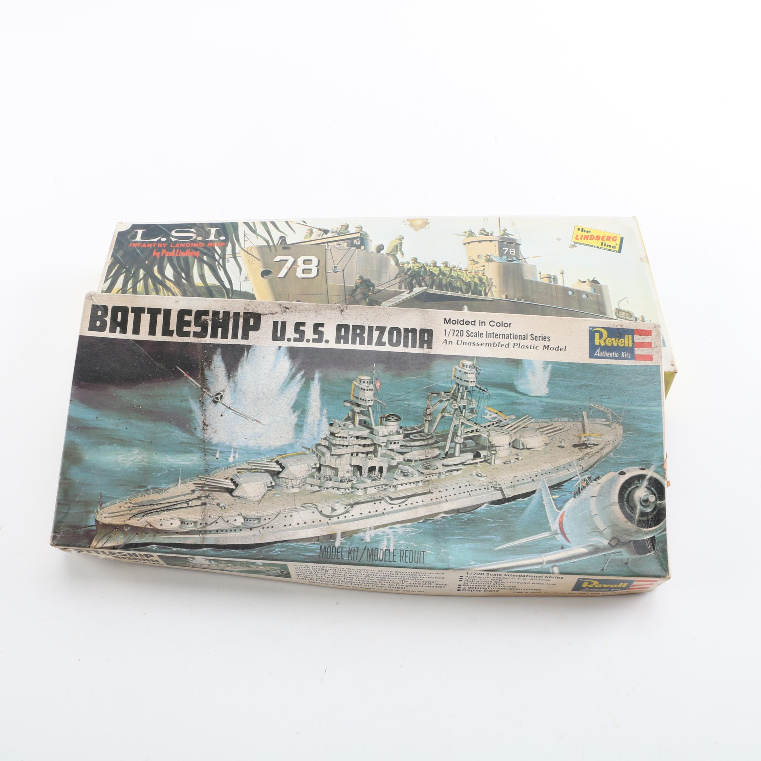 Military Battleship Model Kits Including Revell