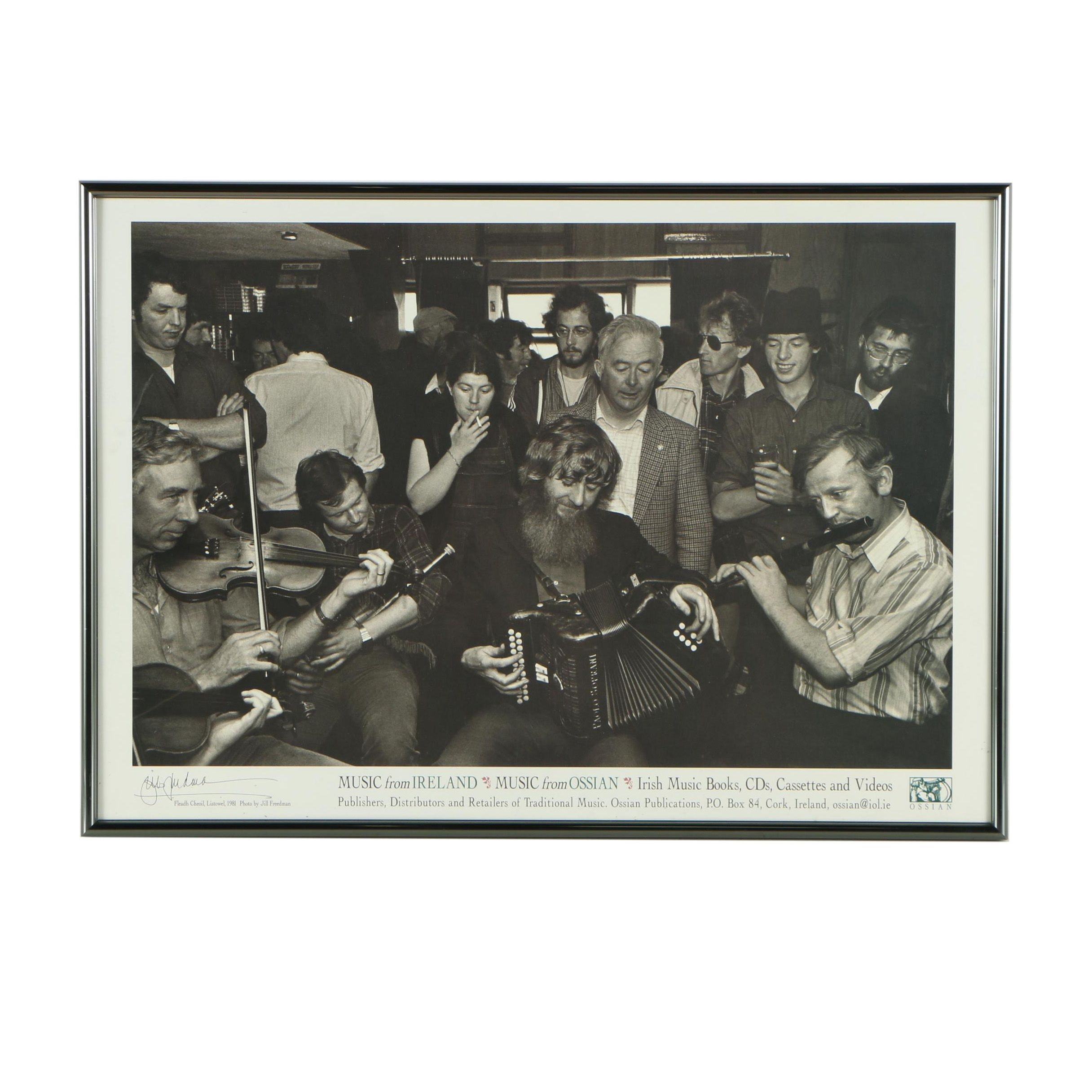 Offset Lithograph of Music From Ireland Poster