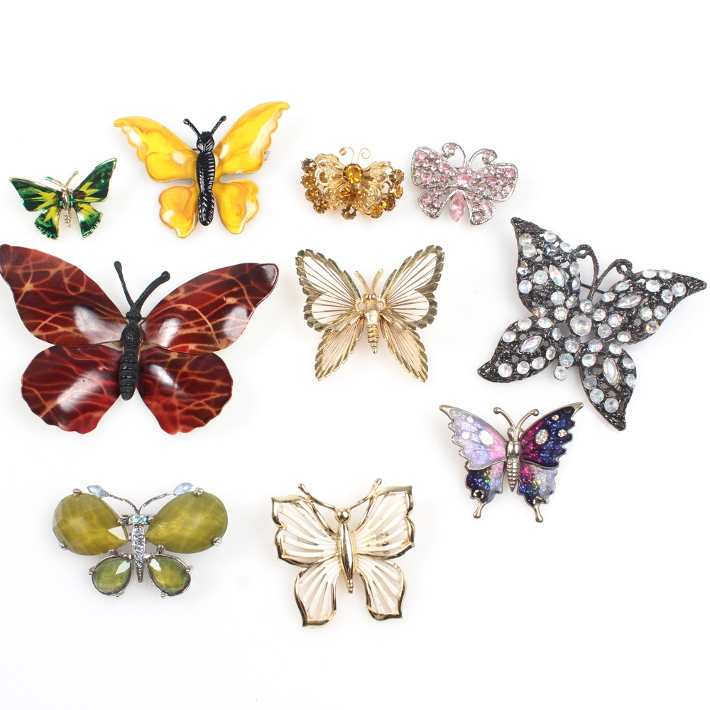 Vintage and Contemporary Butterfly Brooches