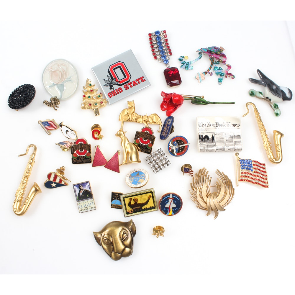 Vintage and Contemporary Brooches and Pins