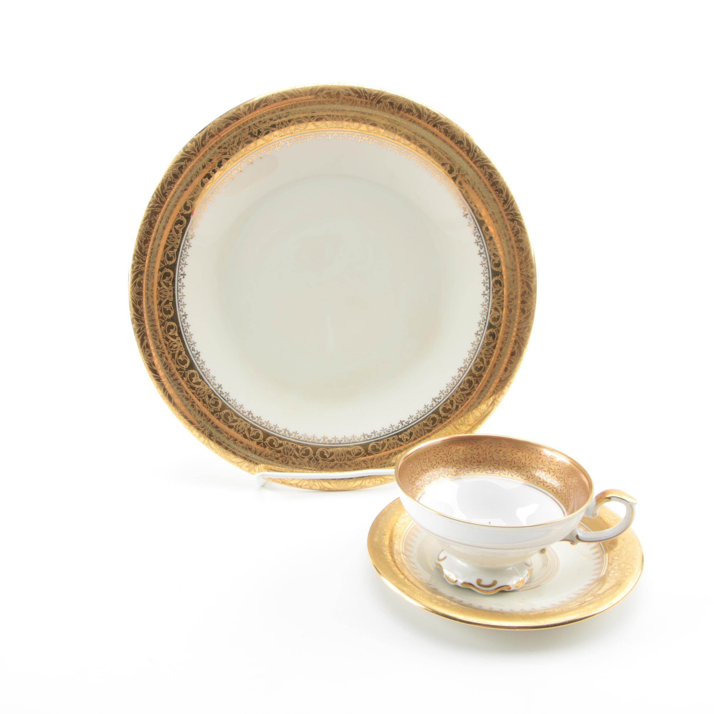 "Vintage Hutschenreuther ""Margarete"" Encrusted Porcelain with H&G Selb Bavaria"