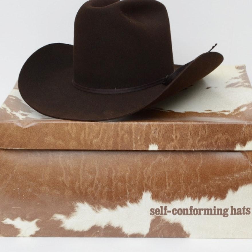 fb96de9529e76 Resistol Self-Conforming 3X Beaver Felted Hat   EBTH