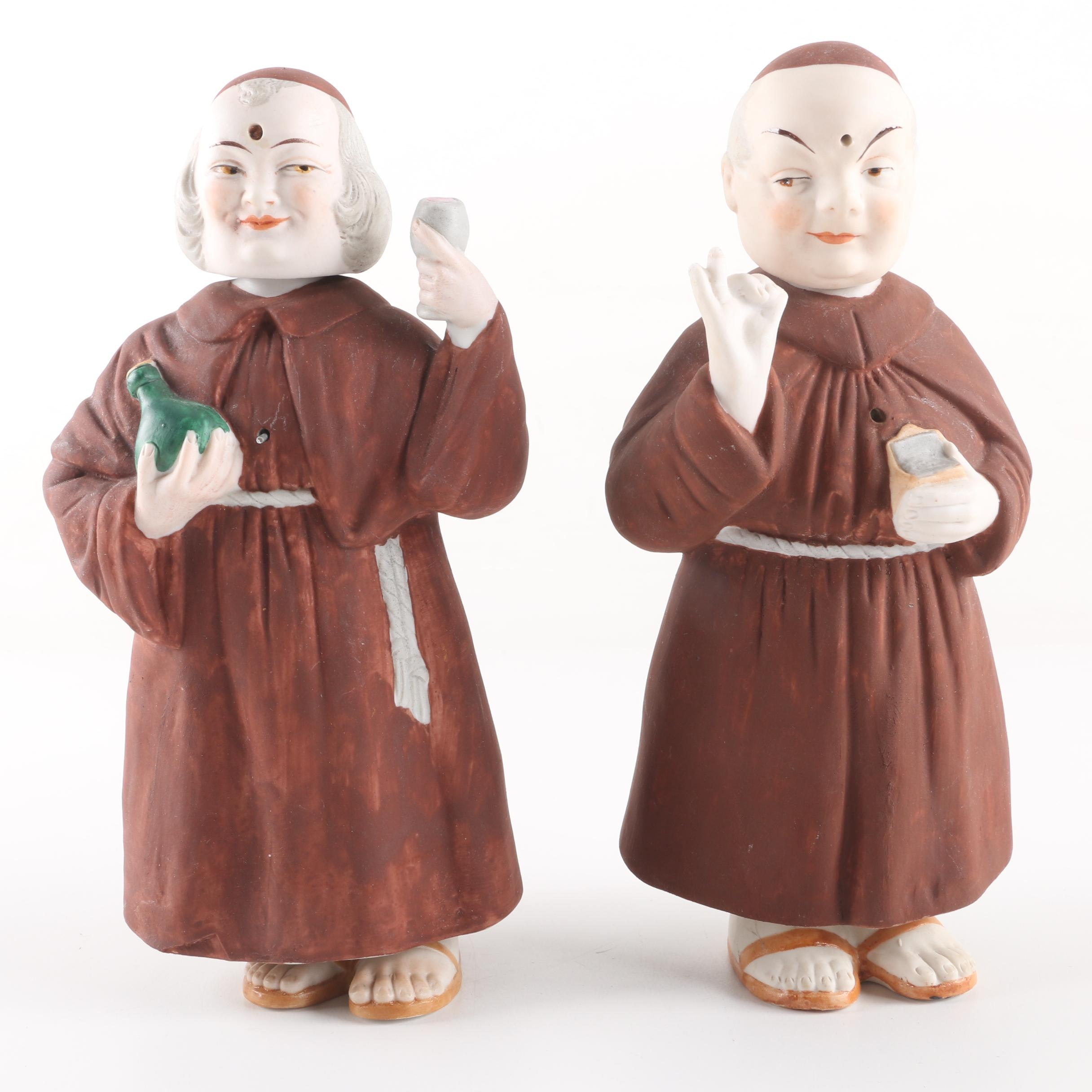 Vintage Swaying Monk Nodder Porcelain Figurines including Kister