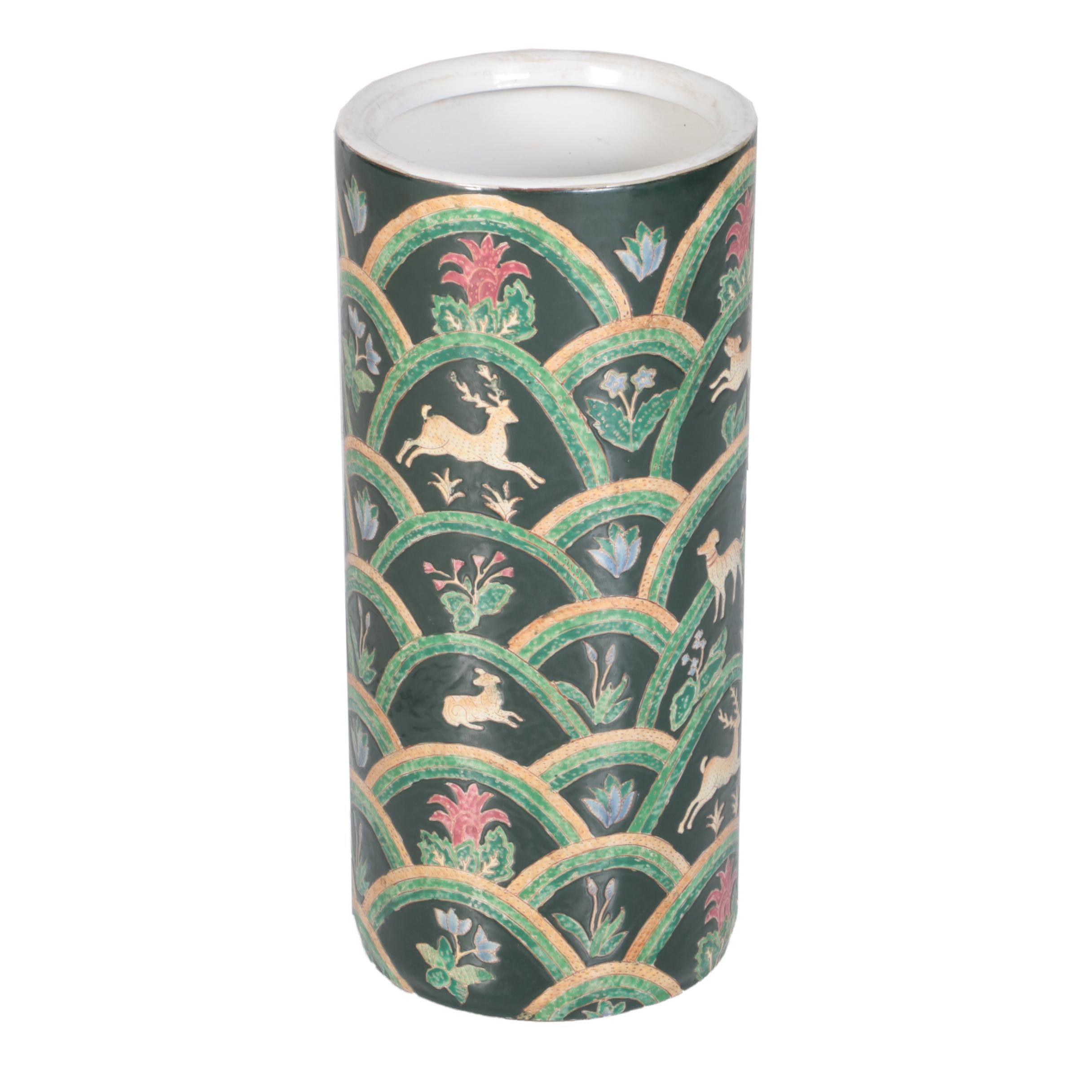 Chinese Decorative Ceramic Umbrella Stand