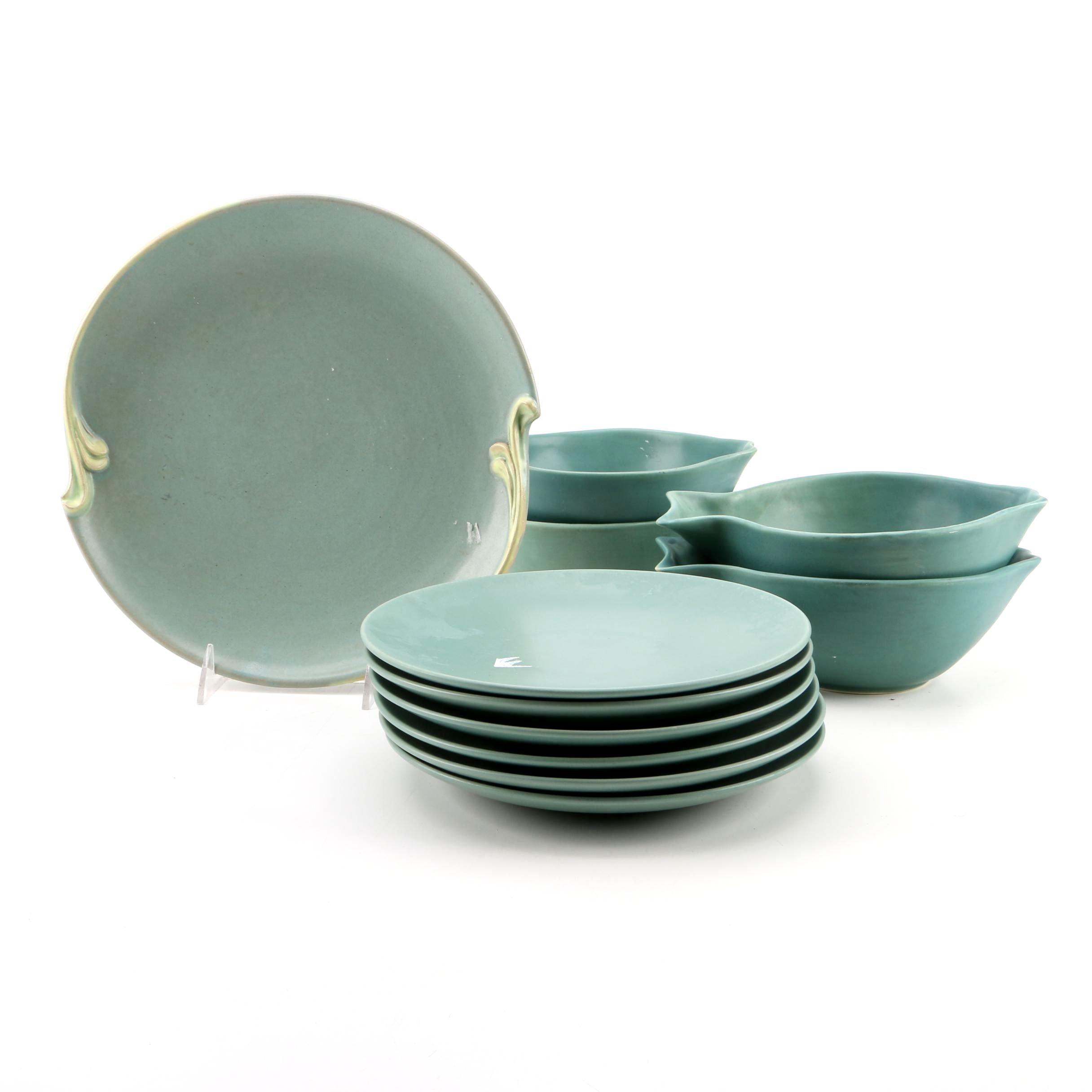 Zen Garden and Furio Sage Green Plates with Fish Shaped Bowls ...  sc 1 st  EBTH.com & Zen Garden and Furio Sage Green Plates with Fish Shaped Bowls : EBTH