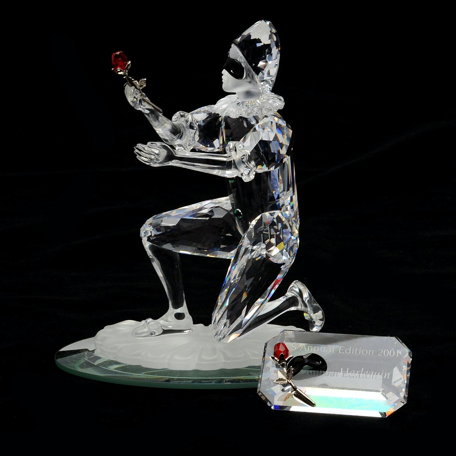 Swarovski Crystal Masquerade Harlequin Figurine