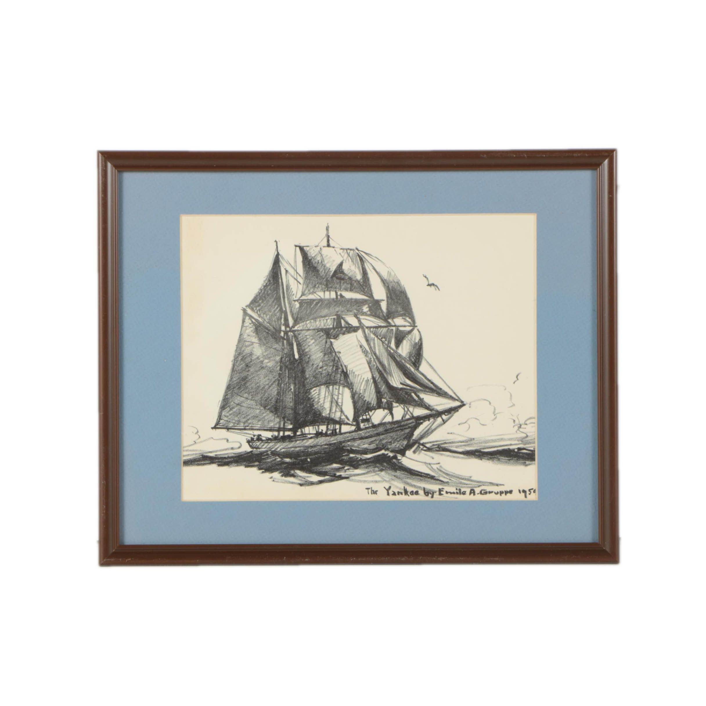 """Lithographic Print After Emile A. Gruppe """"The Yankee"""""""
