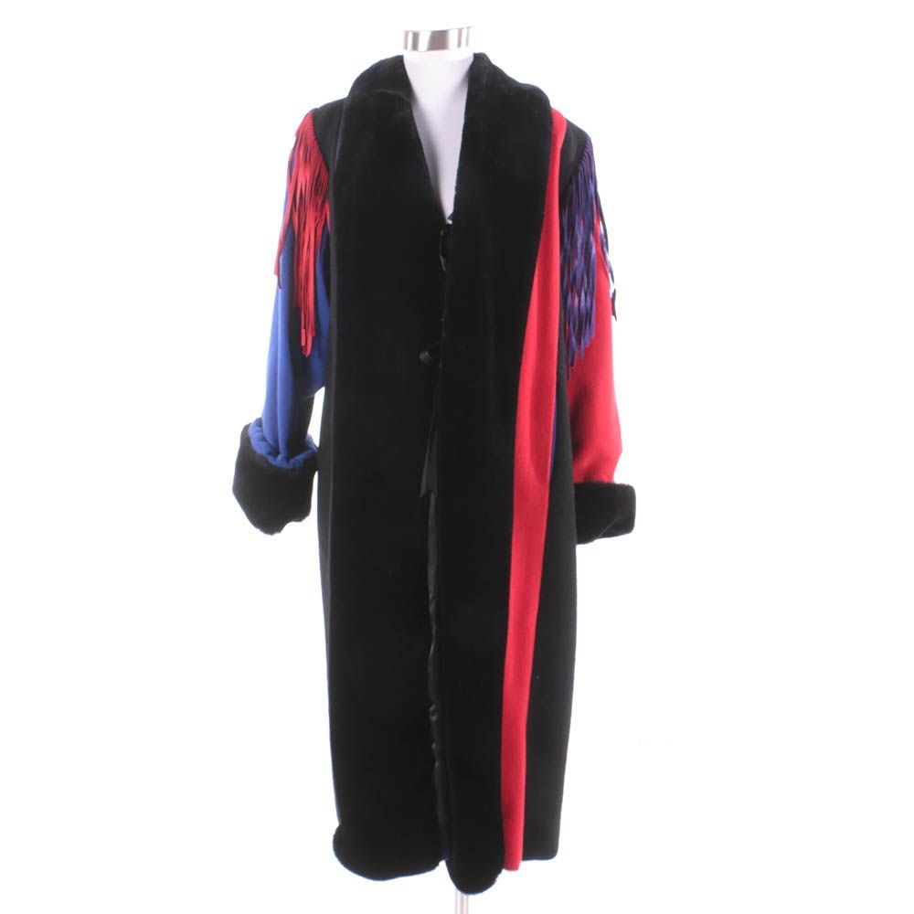 Vintage Santa Fe Re-Creations Colorblock Coat