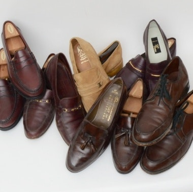 Collection of Men's Designer Shoes Including Bally and Rockport