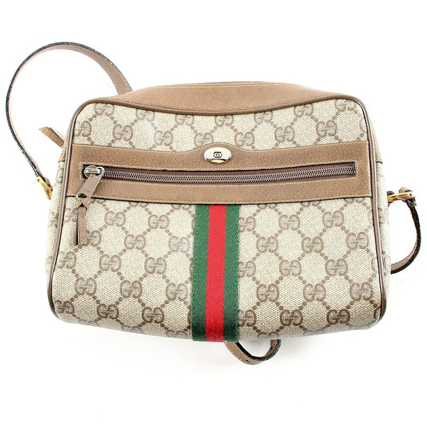 4dfd121f777f90 Vintage Gucci Accessory Collection Supreme Canvas Crossbody Bag : EBTH