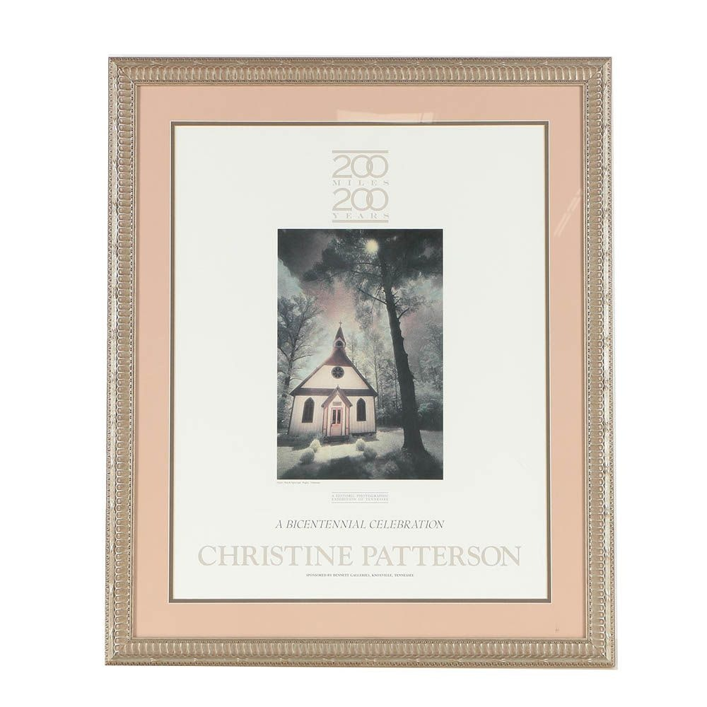 """Offset Lithograph Exhibition Poster """"Christine Patterson: 200 Miles, 200 Years"""""""