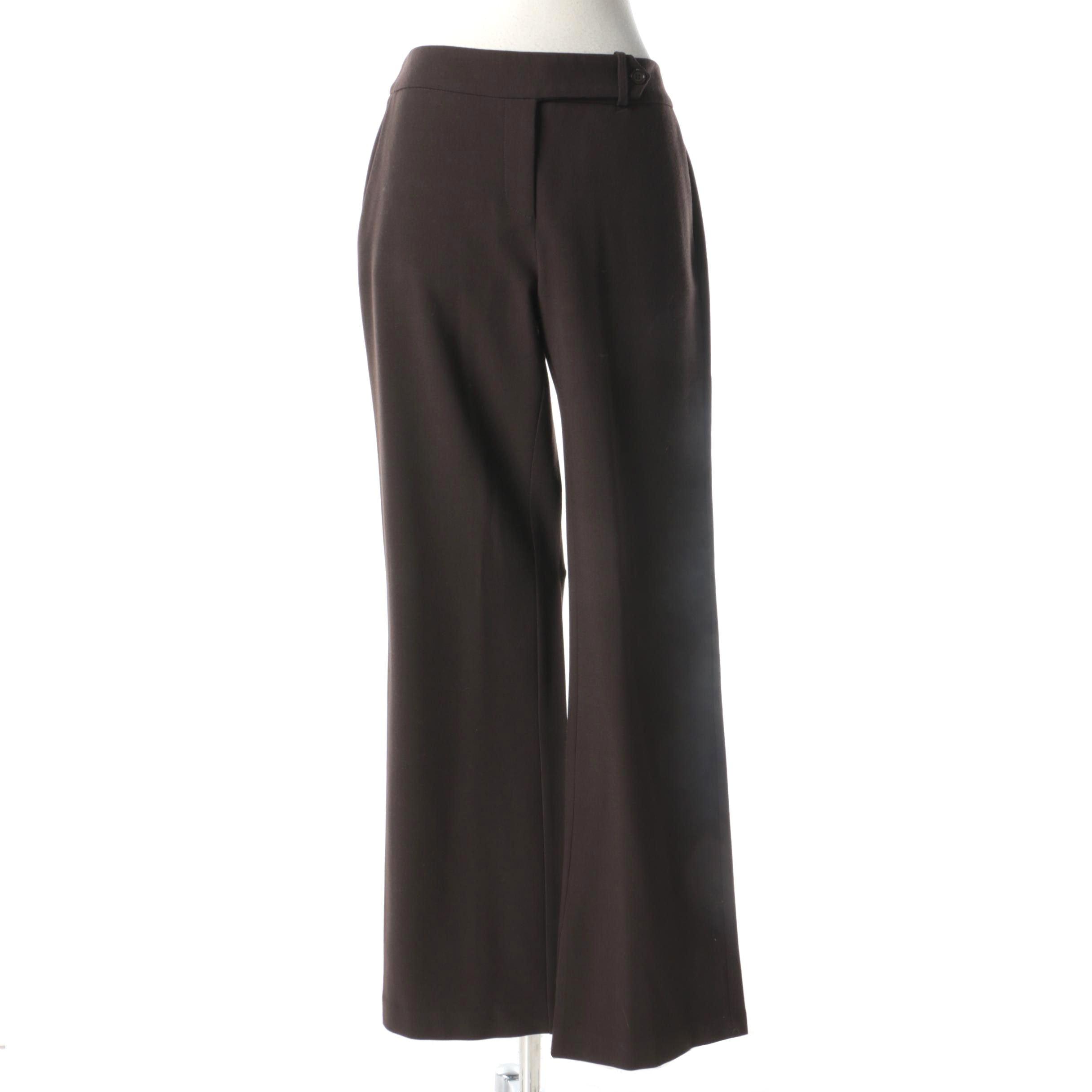 Women's M Missoni Brown Wool Blend Trousers