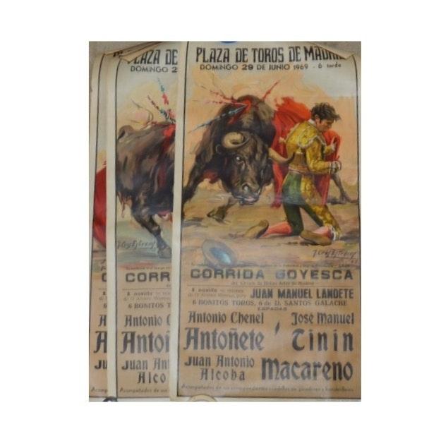 Vintage Spanish Bull Fighting Posters