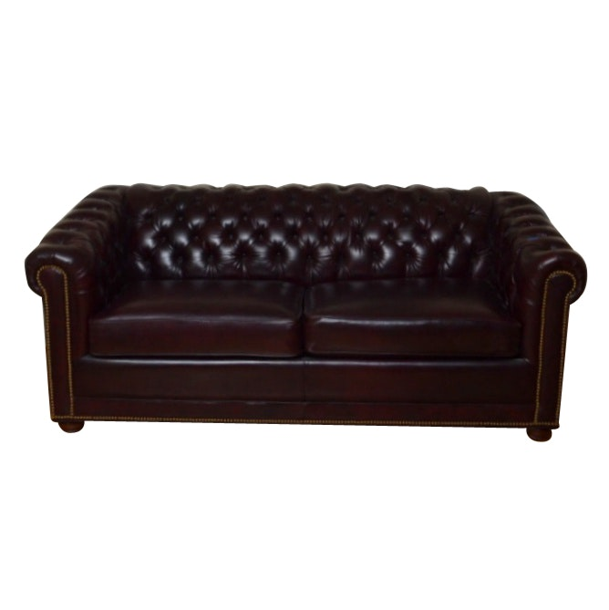 Chesterfield Leather Sofa Sleeper