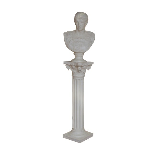 Grecian Bust on Pillar