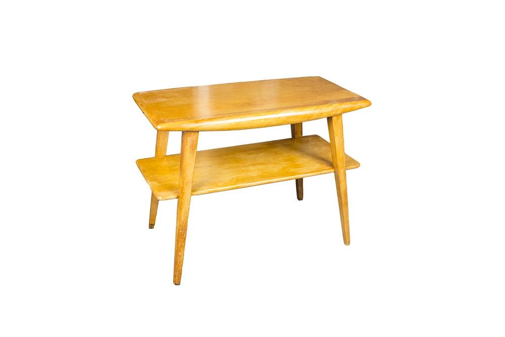 Vintage Mid Century Modern Two-Tier Coffee Table by Heywood-Wakefield