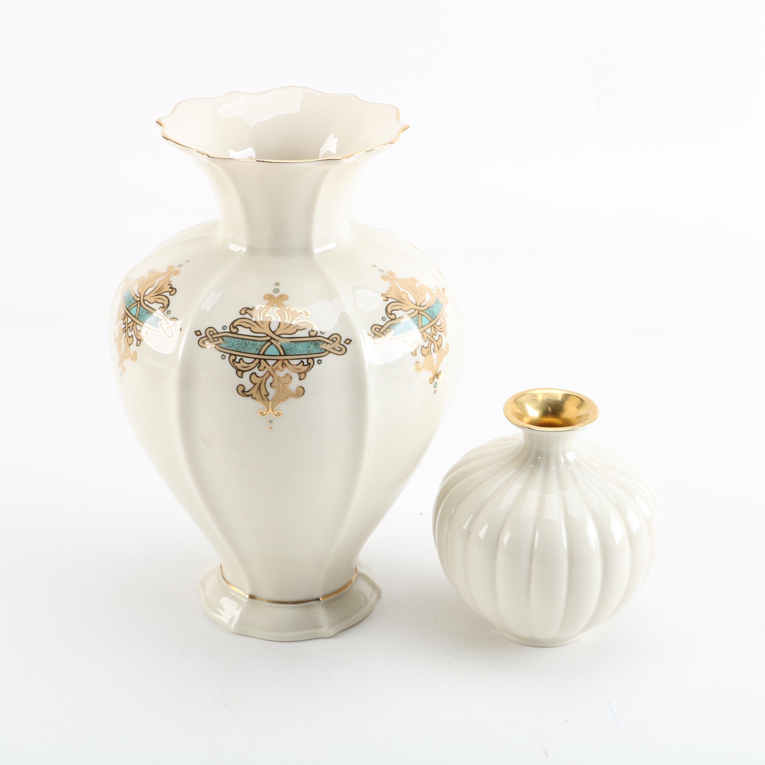 "Lenox ""Catalan"" and ""Sweetbriar"" Porcelain Vases"