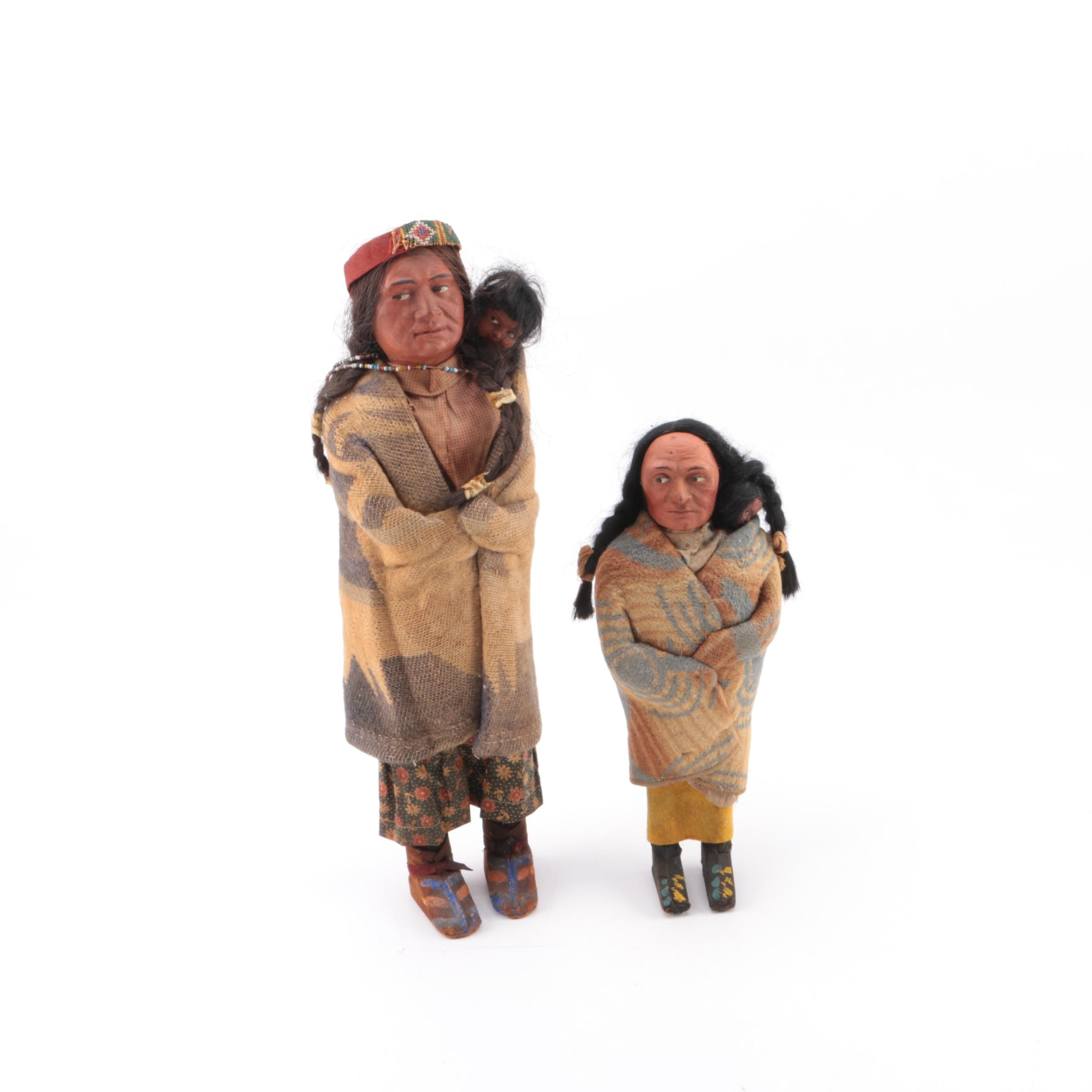 Early 20th Century Skookum Dolls