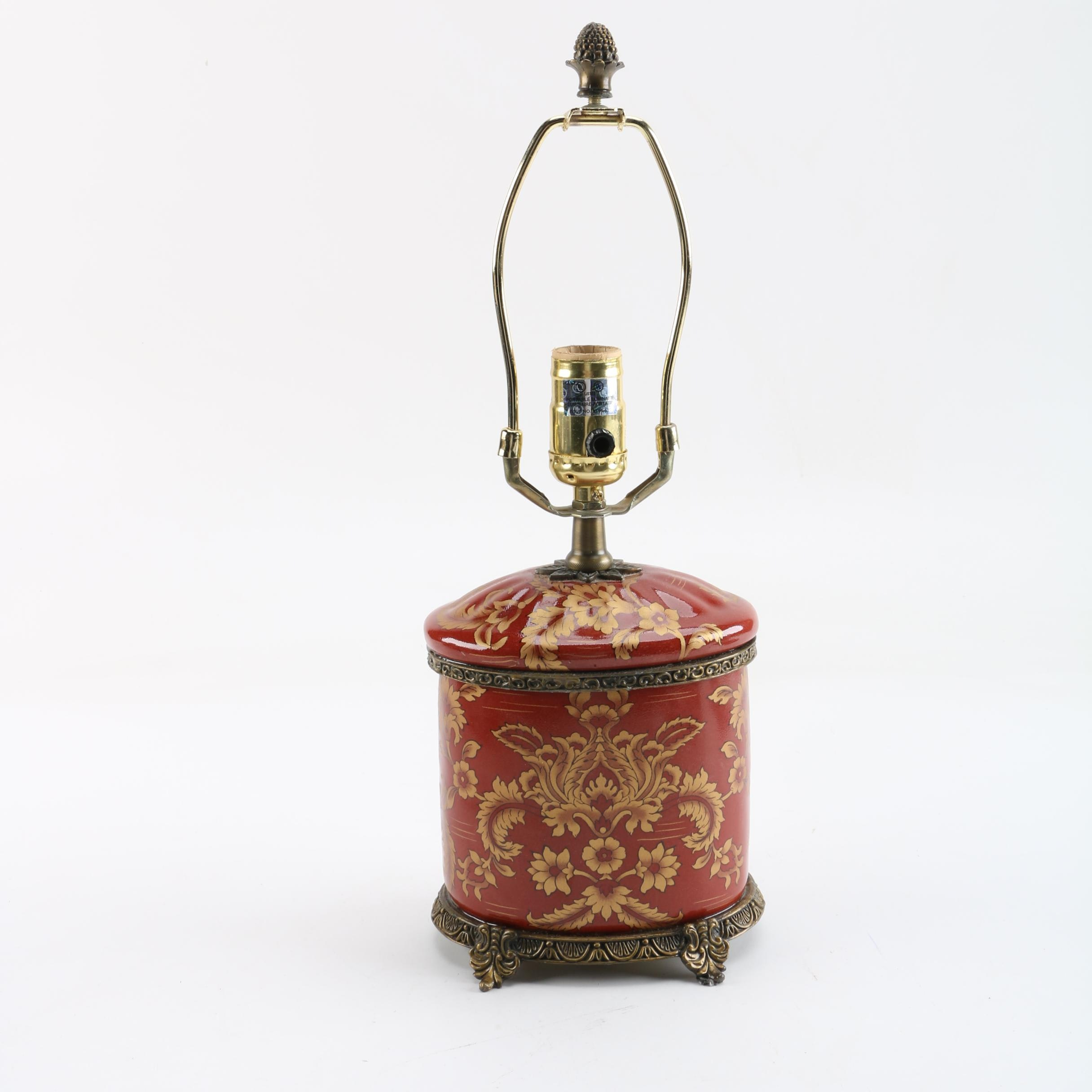 Ornate Canister Style Table Lamp