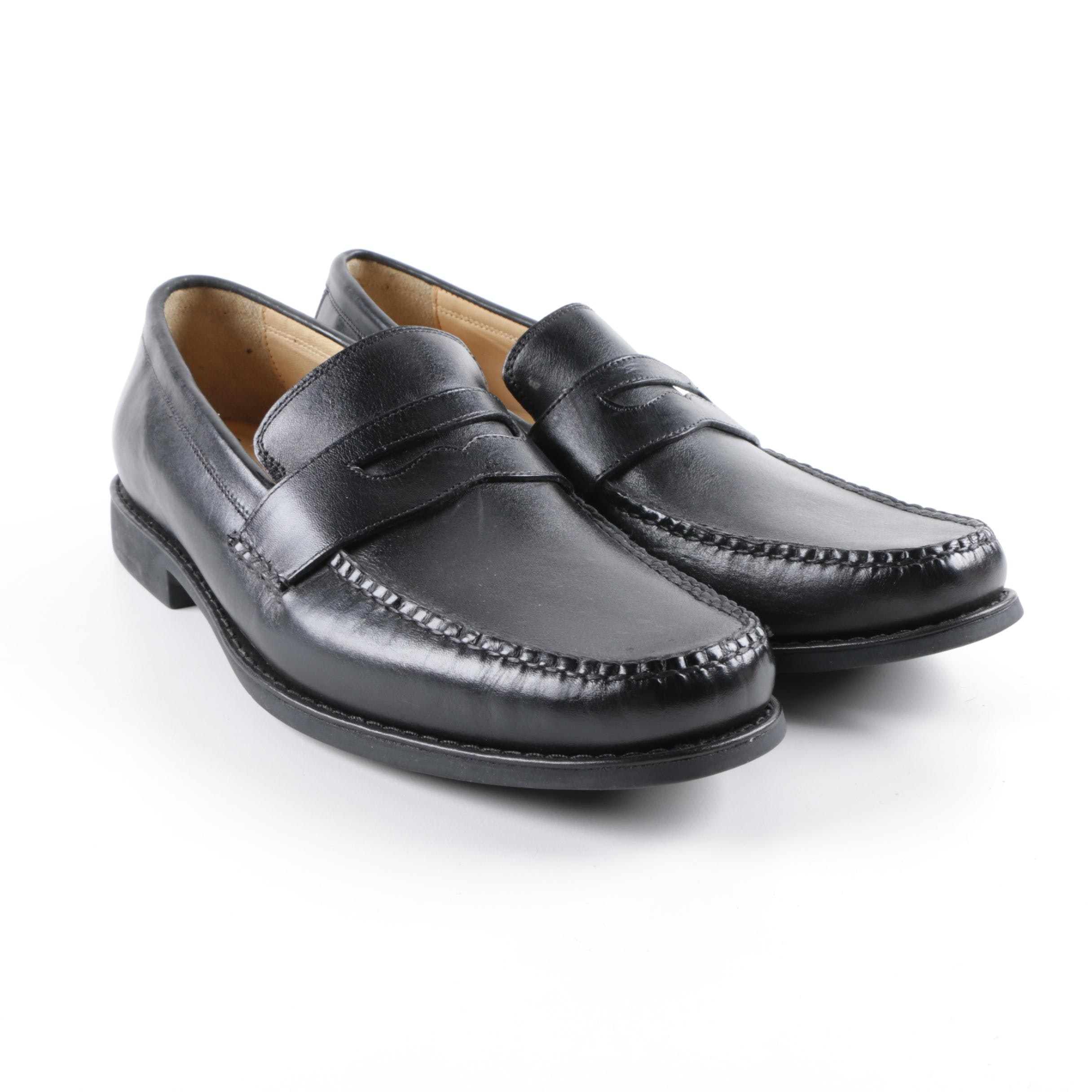 Men's Johnston & Murphy Black Leather Loafers