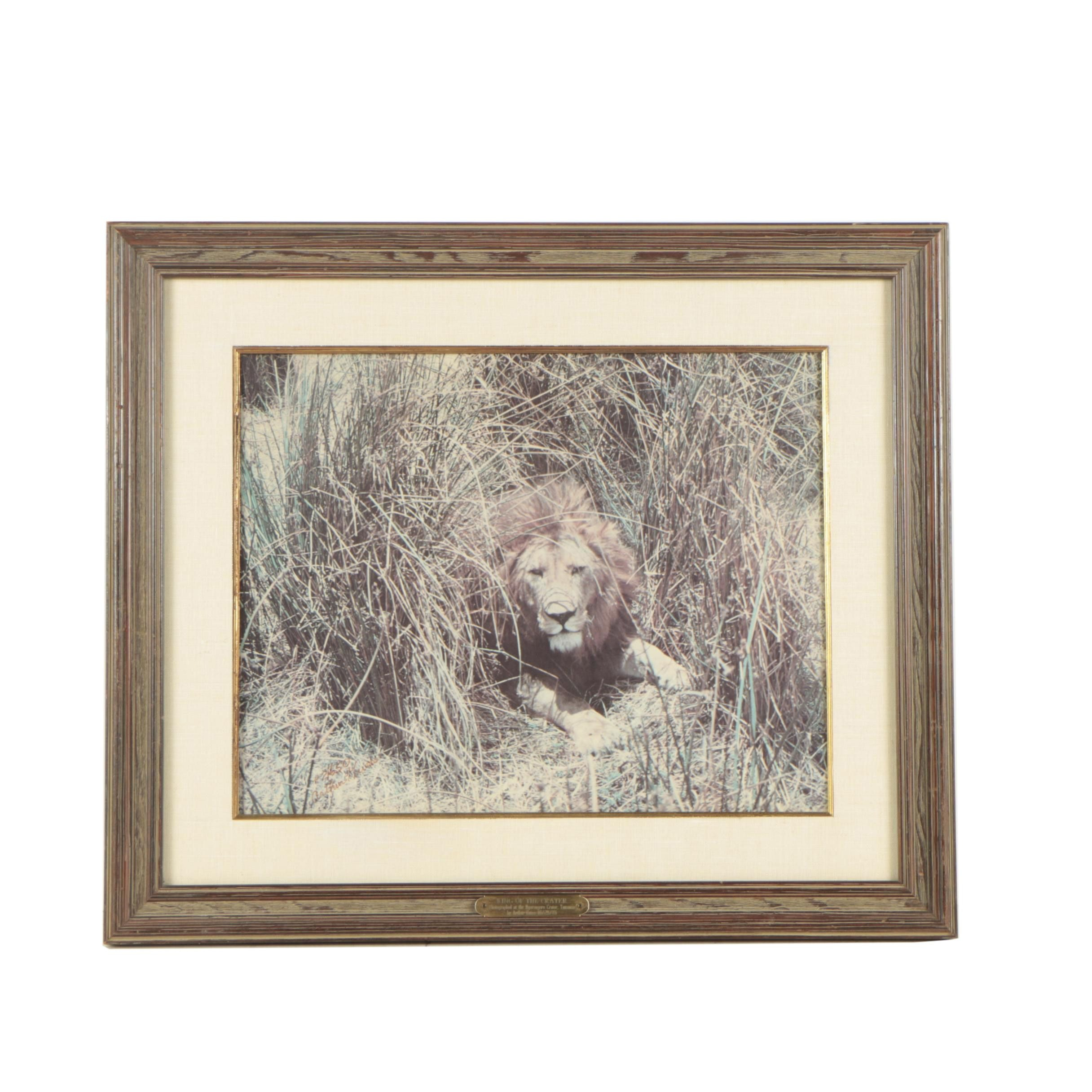 """Arthur Guess Limited Edition Offset Lithograph """"King of the Crater"""""""