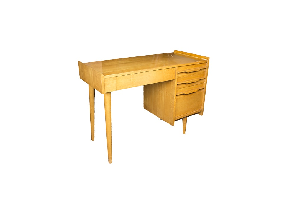 Vintage Mid Century Modern Desk by Crawford Furniture