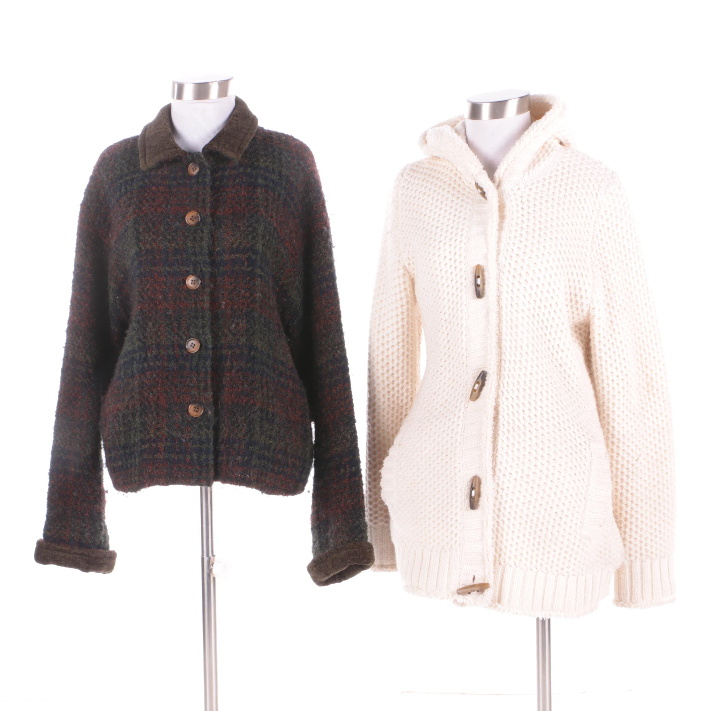 Women's Wool and Knit Jackets Including Weave of the Irish and L.L. Bean