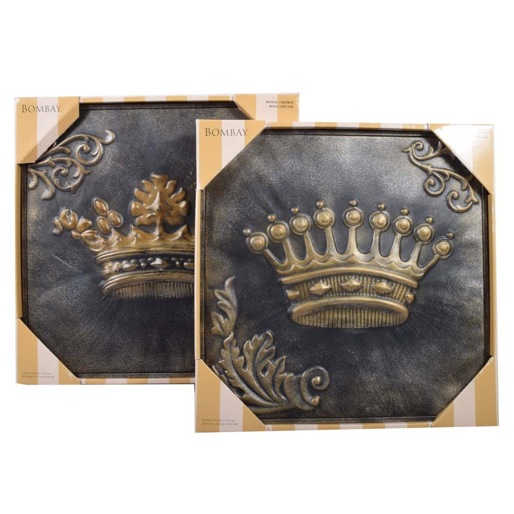 Bombay Company Pressed Tin Wall Plaques