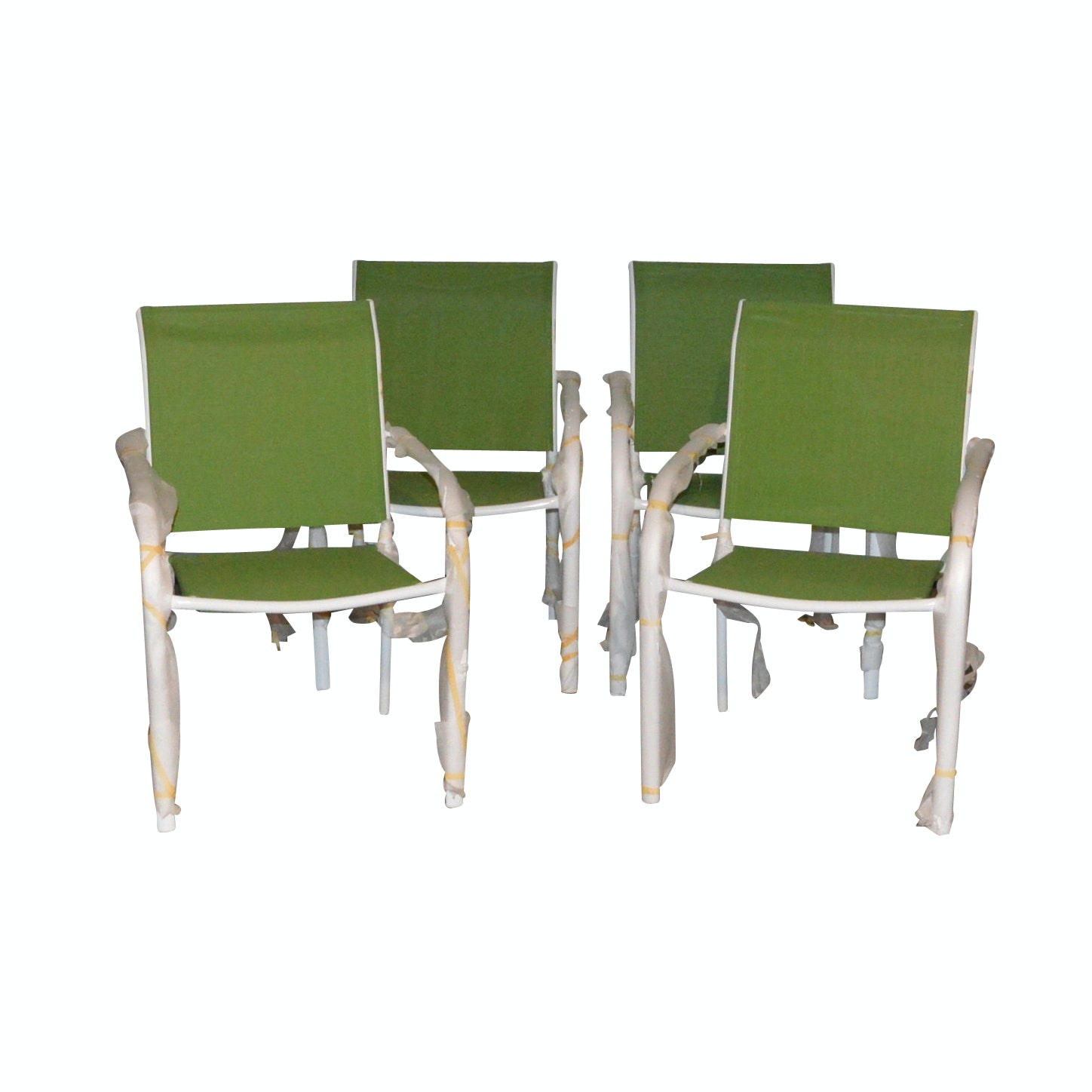 Four Aluminum Frame Patio Chairs