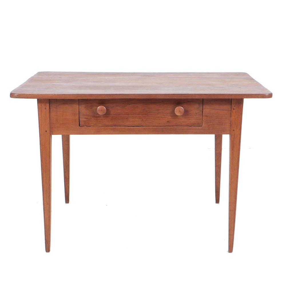 Antique Walnut One-Drawer Work Table