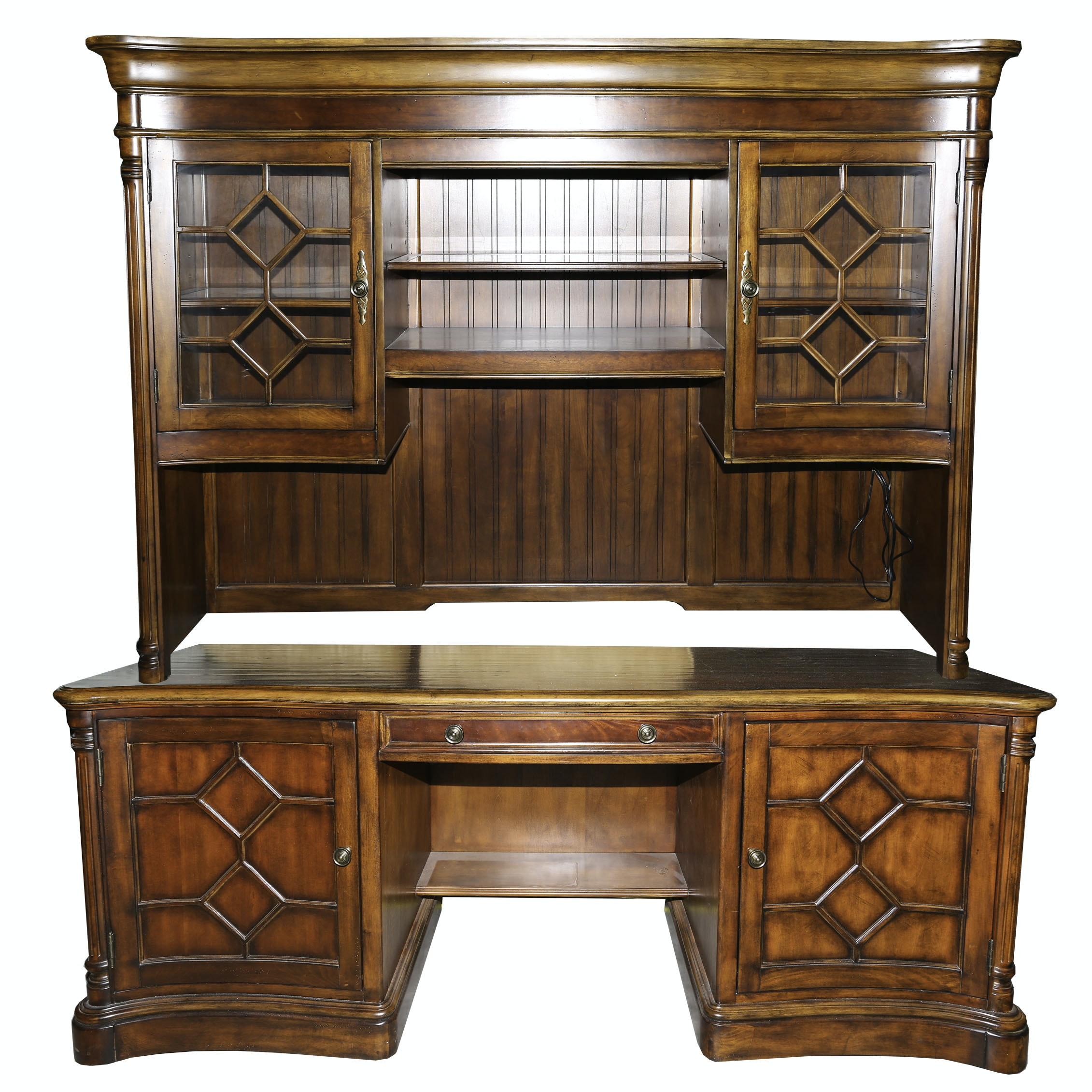 Vintage hooker furniture desk Desk With Hutch By Seven Seas By Hooker Furniture Ebthcom Online Furniture Auctions Vintage Furniture Auction Antique