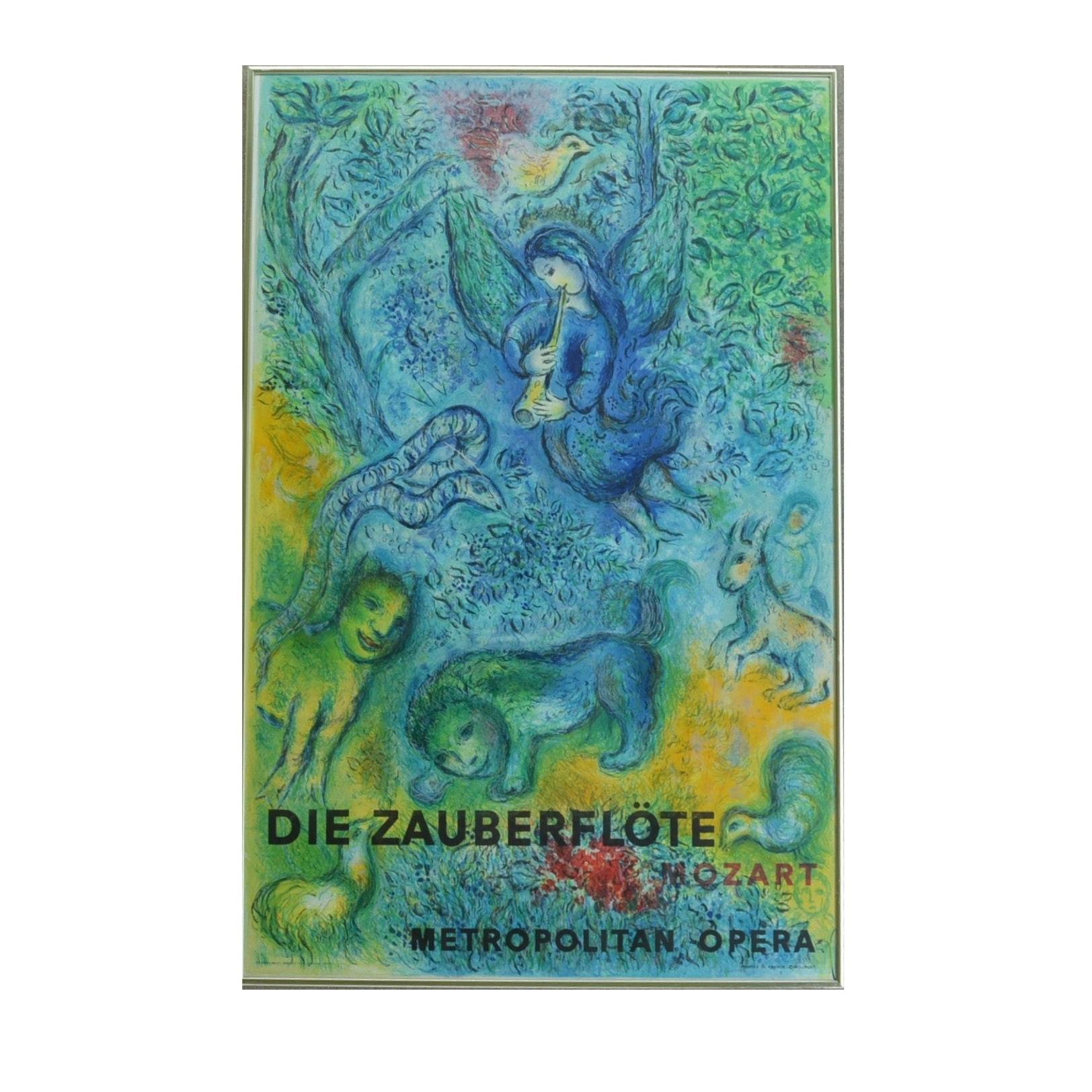 "Metropolitan Opera ""Die Zauberflöte"" Lithographic Poster after Marc Chagall"