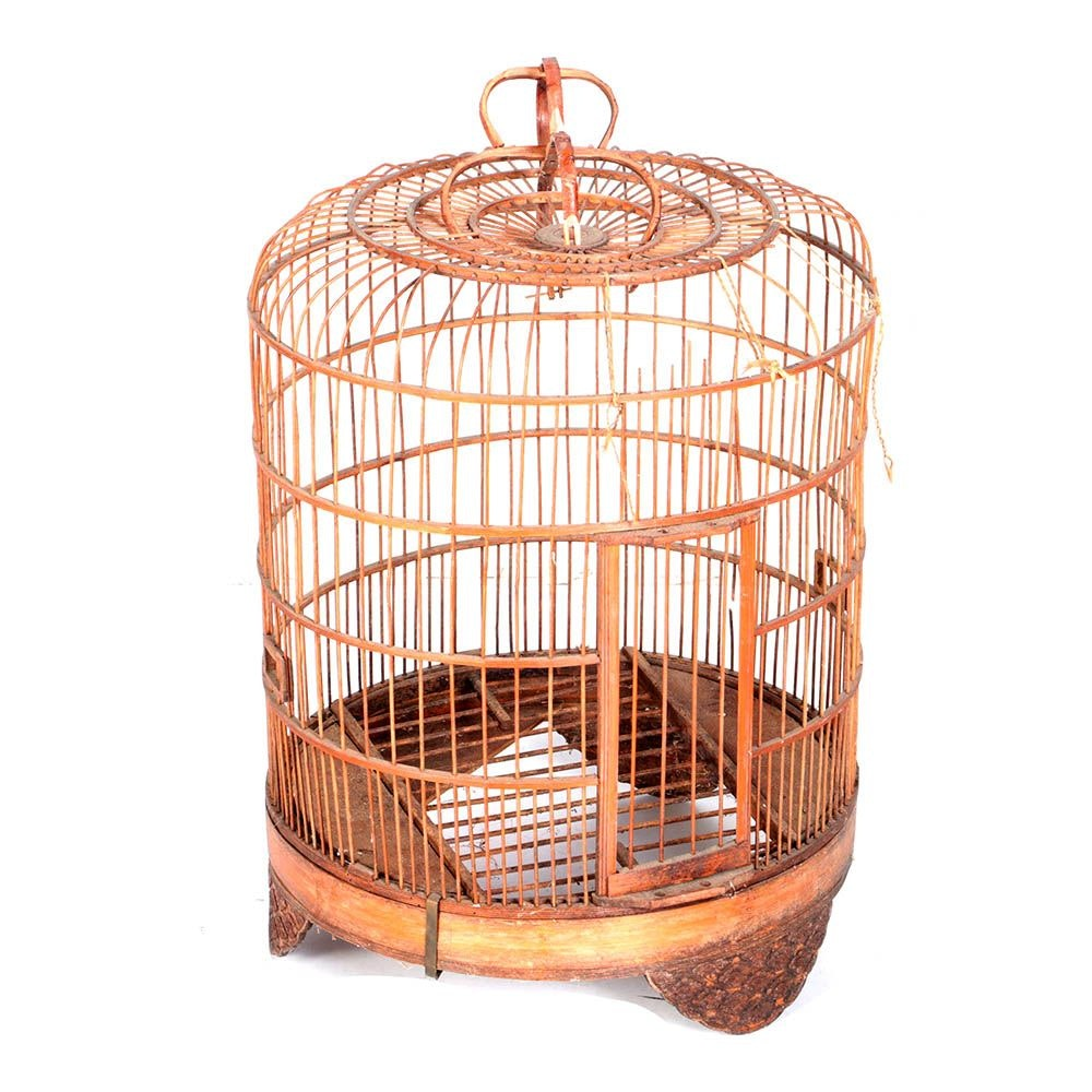 Chinese Style Wooden Bird Cage