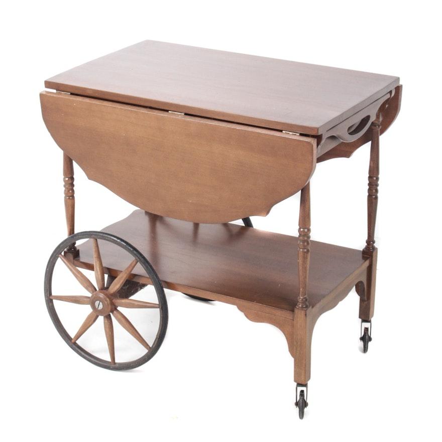 Vintage Wooden Tea Cart
