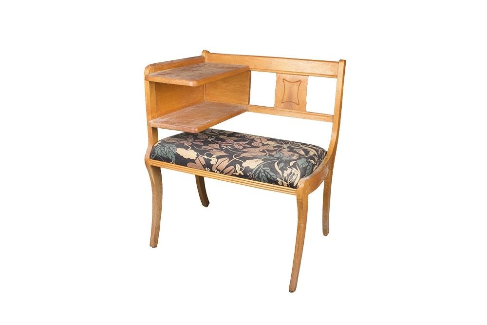 Vintage Mid Century Modern Telephone Chair