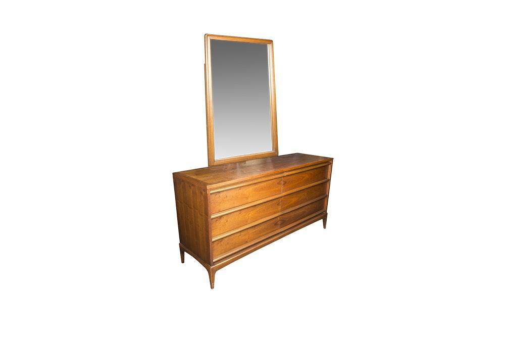 Vintage Mid Century Modern Dresser with Mirror by Lane