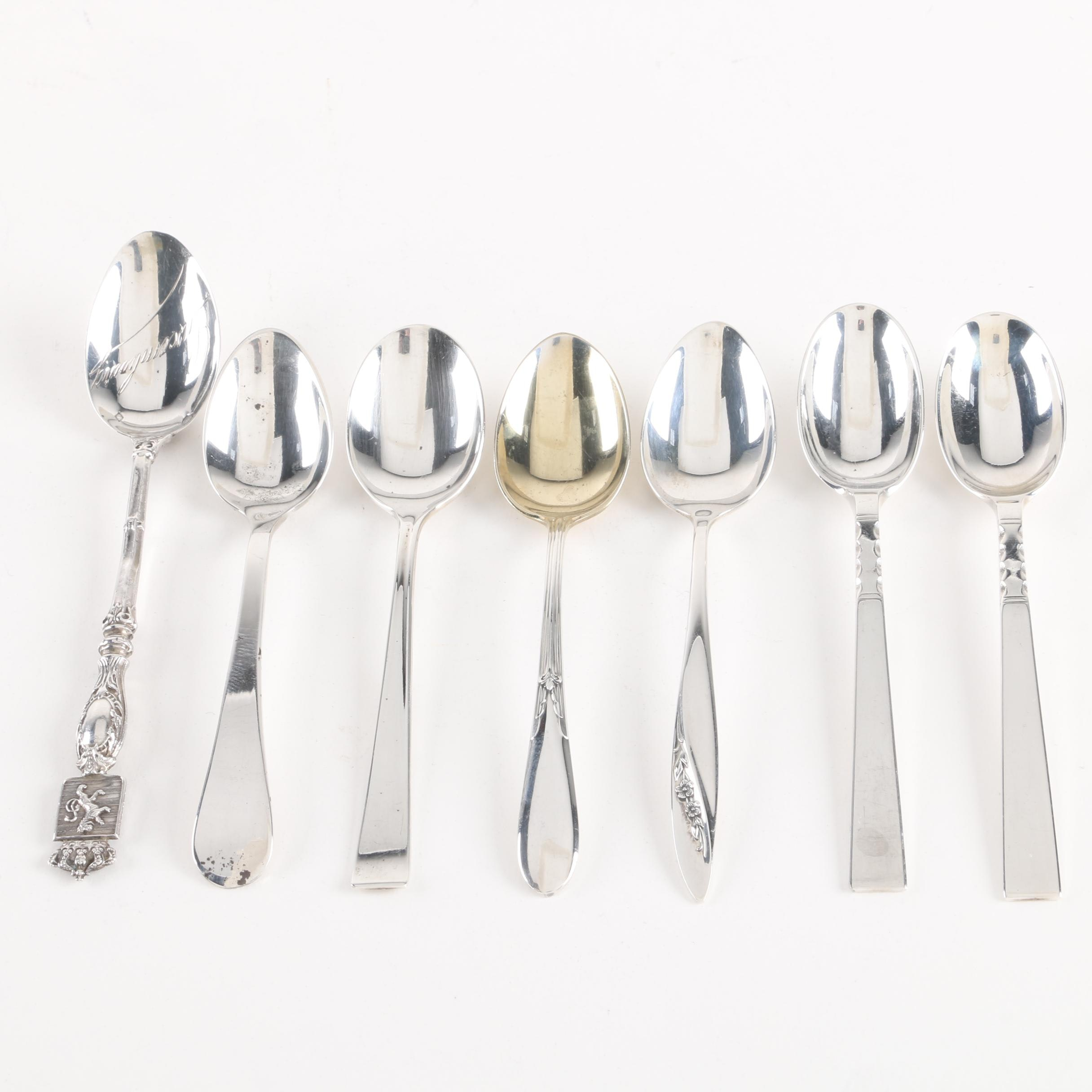 Black, Starr & Gorham Sterling Demitasse Spoons with Other Sterling Spoons