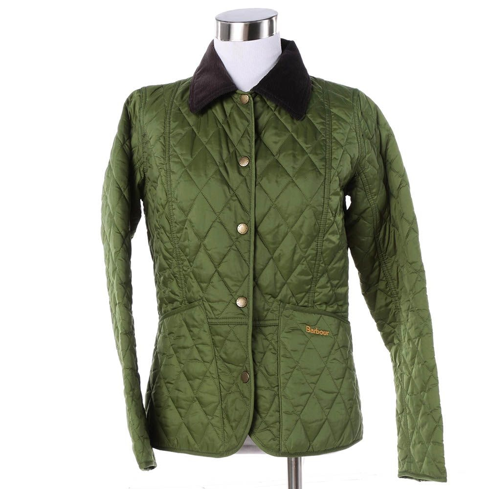 Women's Barbour Annandale Olive Green Quilted Jacket