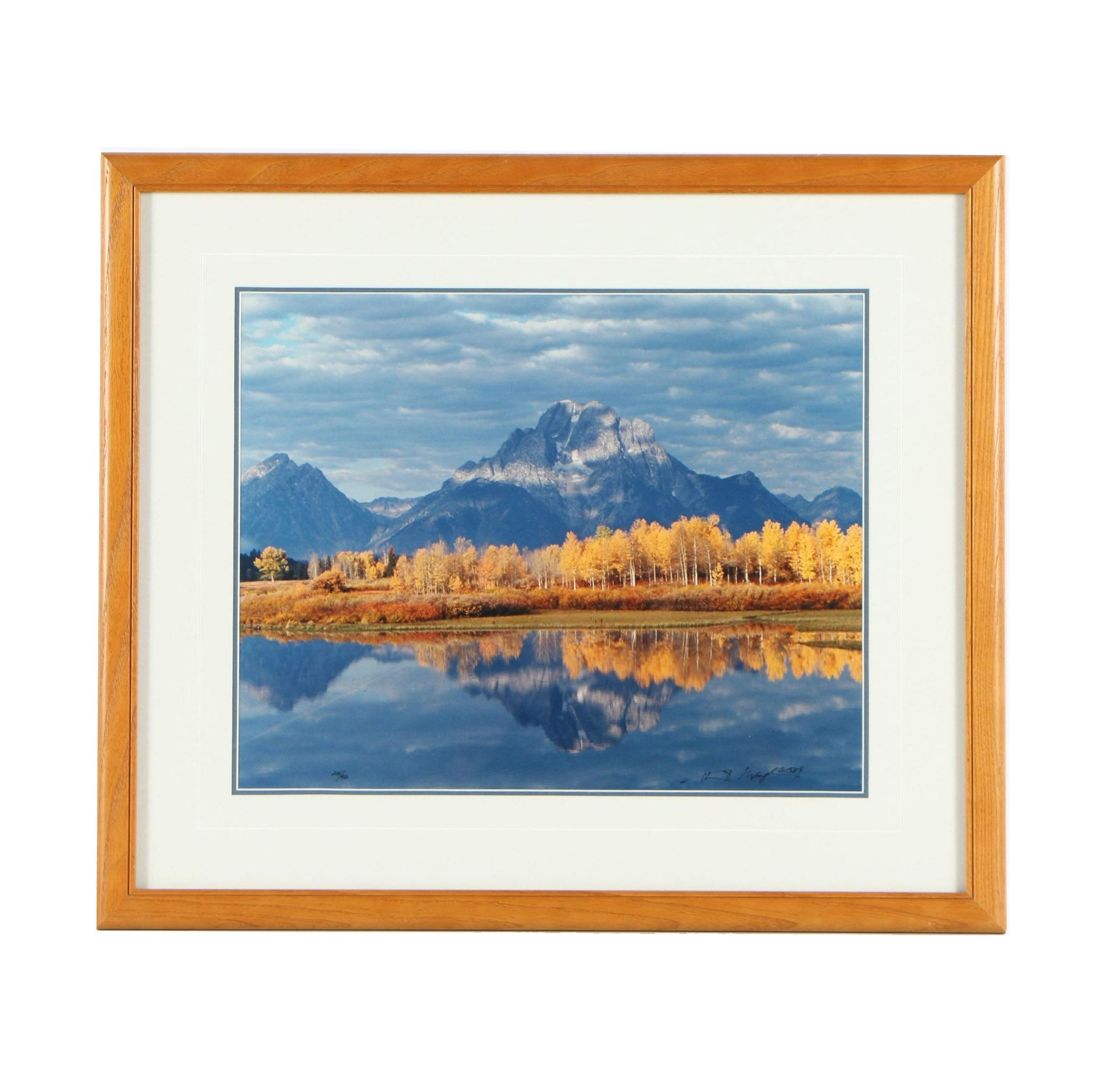 "Thomas D. Mangelsen Limited Edition Photograph ""Mt. Moran and Oxbow Bend"""