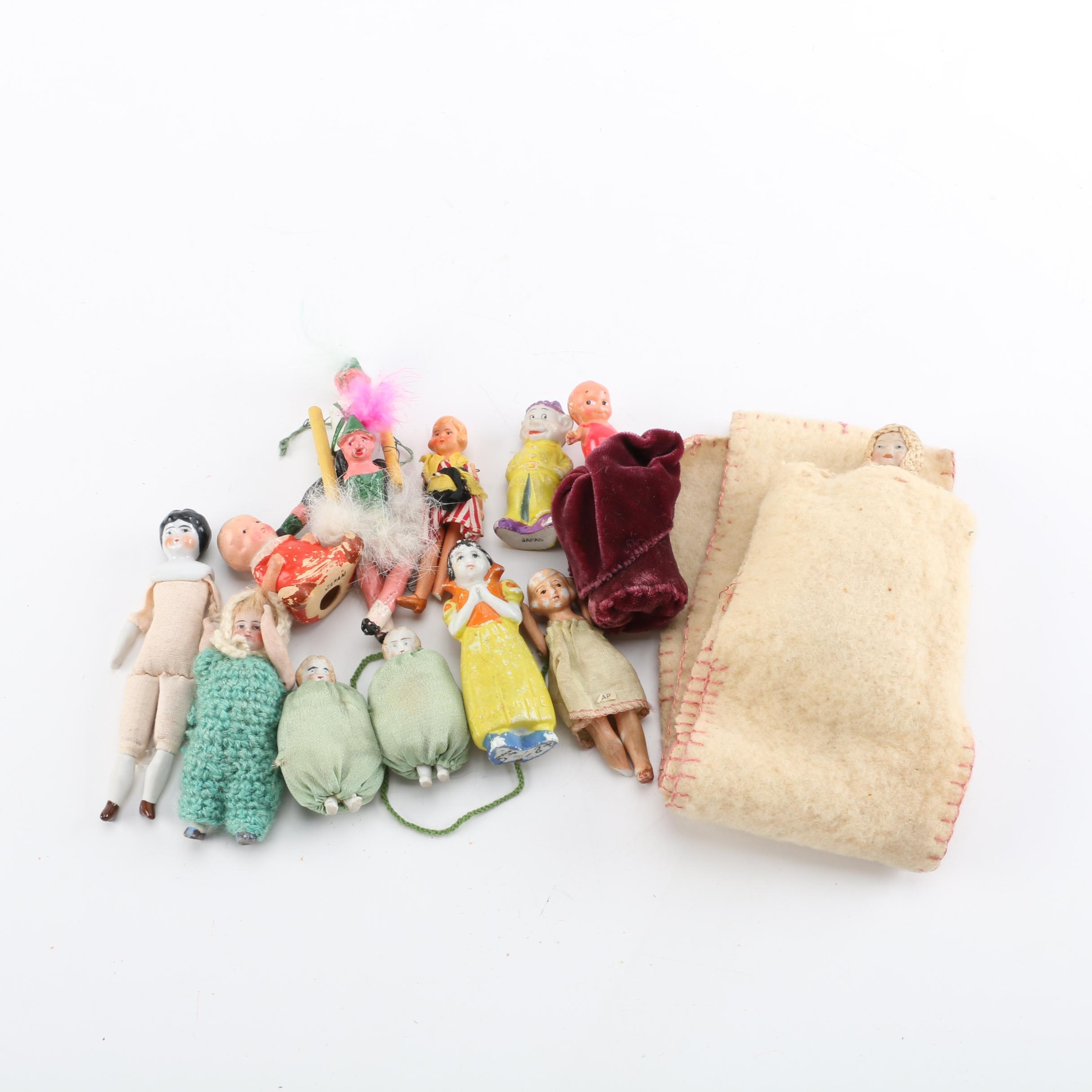 Antique and Vintage Miniature Dolls and Pin Cushions