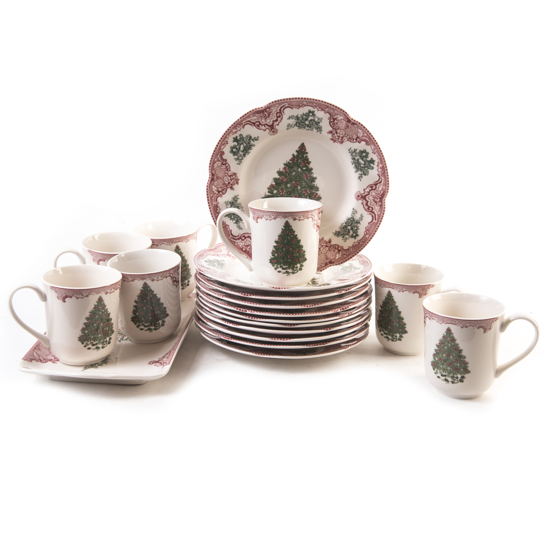 Johnson Brothers Johnson Brothers OLD BRITAIN CASTLES PINK CHRISTMAS