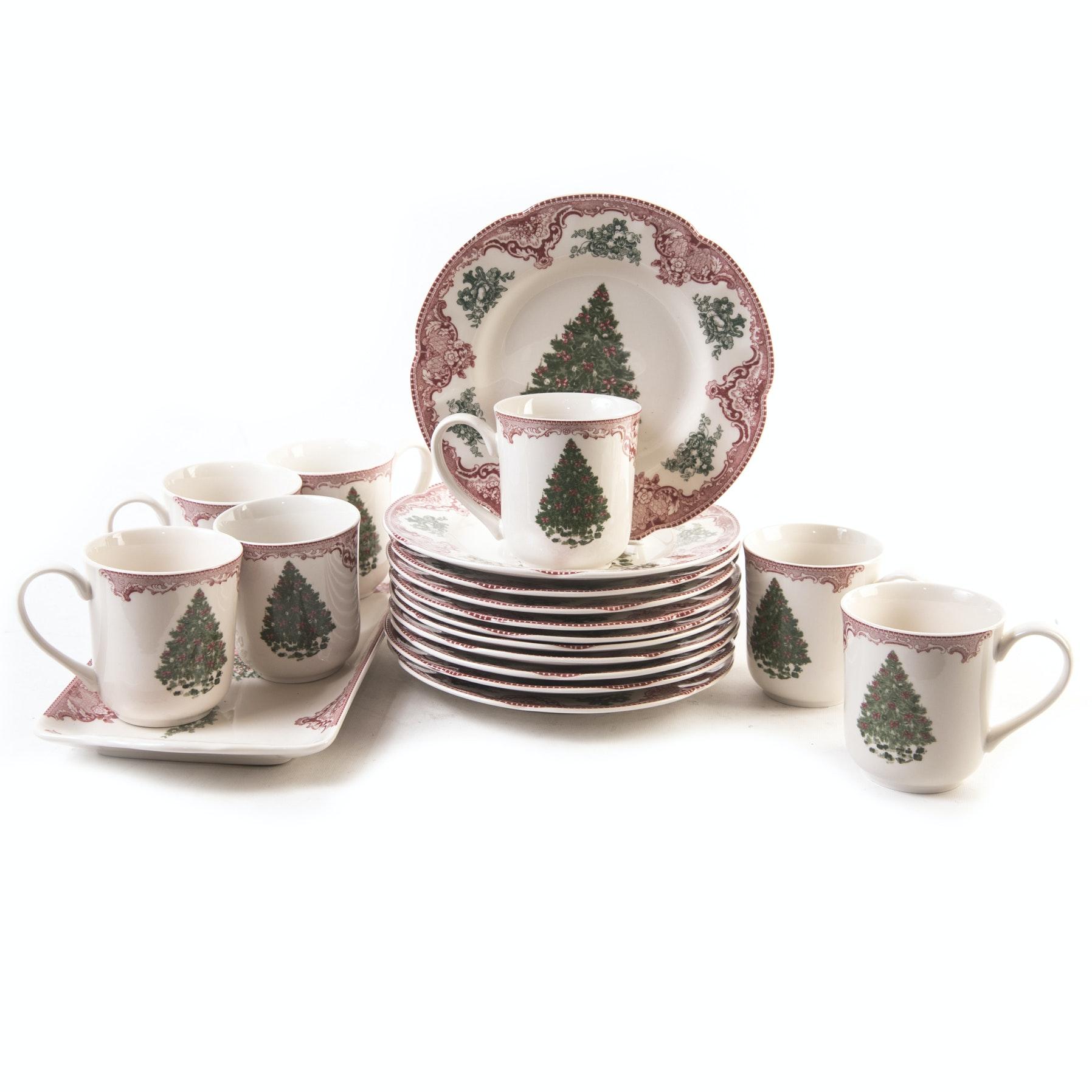 \ Old Britain Castles Pink Christmas\  Dinnerware ...  sc 1 st  EBTH.com & Johnson Bros. \