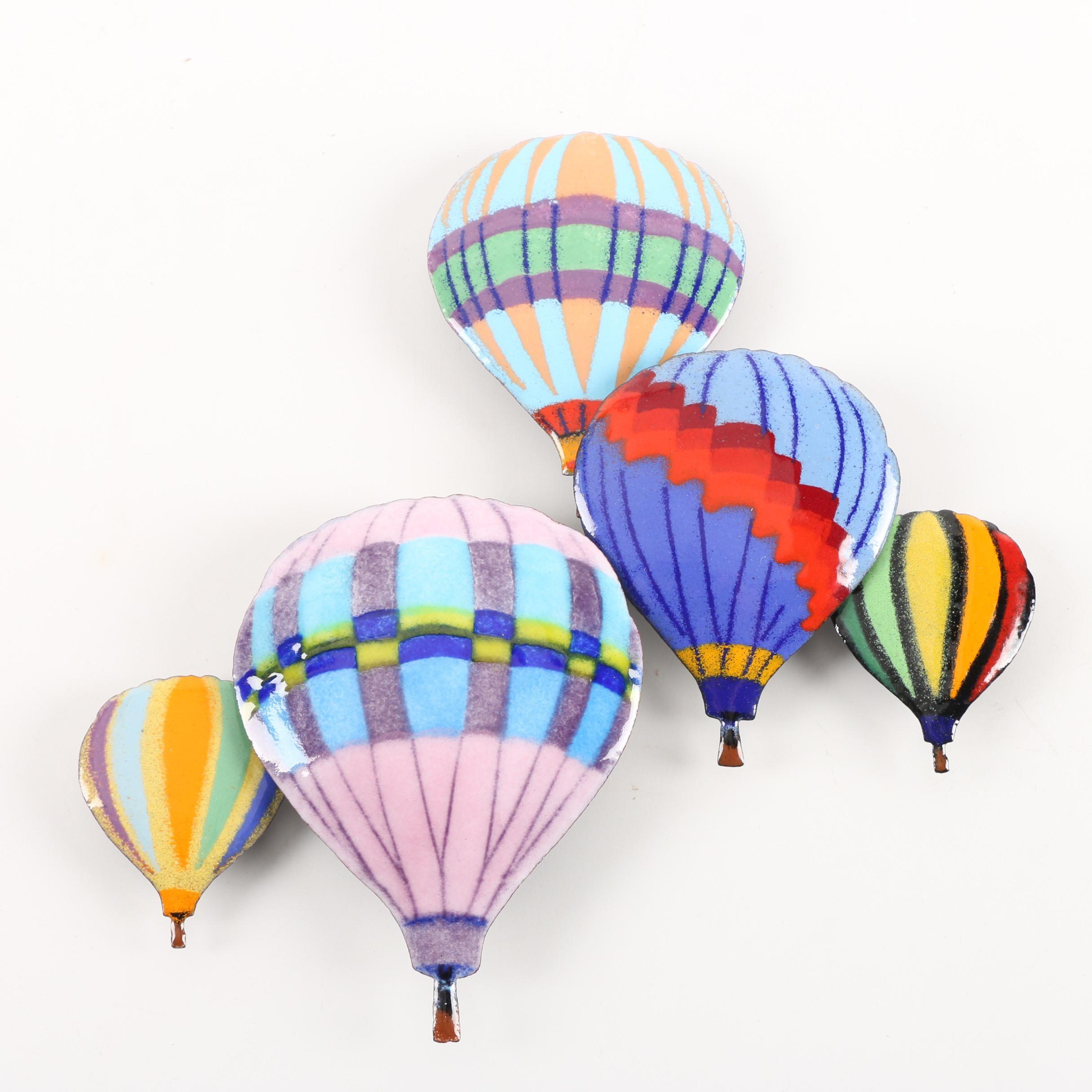 """Bovano """"Hot Air Balloons in Flight"""" Wall Art"""