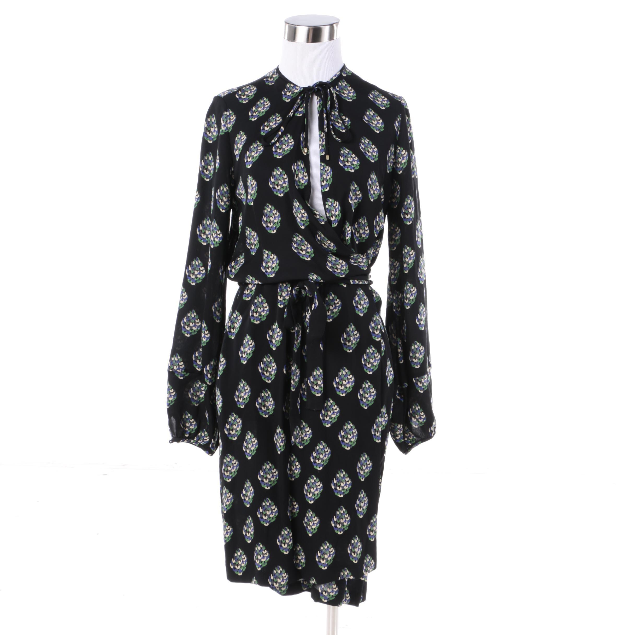 Diane von Furstenberg Nove Gem Silk Wrap Dress